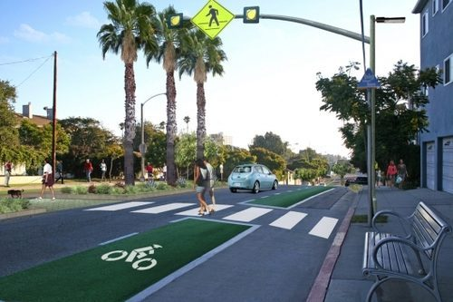 "Ocean Park Blvd. ""complete streets"" project in Santa Monica"