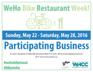 BikeRestaurantWeek2016_Business Sign